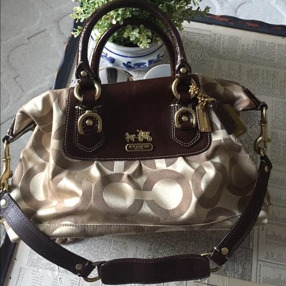 Coach Handbags - COACH Madison Sabrina Convertible Strap Satchel 73b61dcec561e