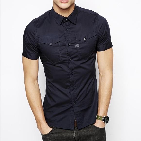 df69b7c0e3 G-Star Other - G- Star Raw - Black Short Sleeve Button Up Shirt