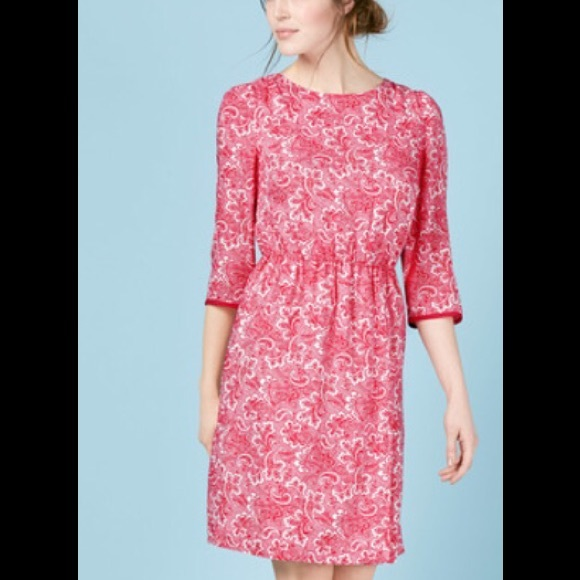 6a3df1625f6d8 Boden Dresses & Skirts - BODEN DOLLY DRESS in RED/IVORY PAISLEY.
