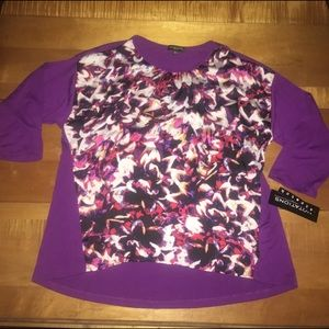 Notations Tops - Notations Petite 3/4 Sleeve Blouse NWT