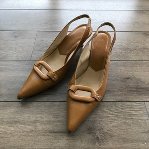 """J.Crew Factory Shoes - Made in Italy JCREW 2"""" heels leather pumps"""