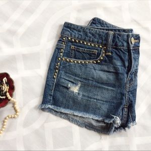 American Eagle Outfitters Pants - AEO AMERICAN EAGLE Studded Cutoff Jean Shorts