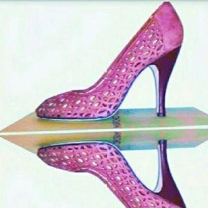 $375 NEW ITALIAN MADE Marchez Vous Tan Heels Shoes