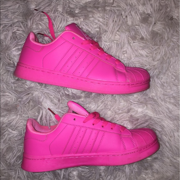 b19f7980ac Hot pink Adidas superstar shell toe sneakers