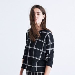 Madewell Sweaters - Madewell black plaid sweater