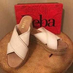 Reba Shoes - NWT Reba bone sandal/ wedges--10M