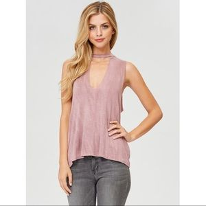 Jolie Tops - LAST 2 Mauve Cut Out Top