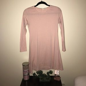 Liva Girl Dresses & Skirts - Light Pink Long Sleeved Tunic Dress, Large
