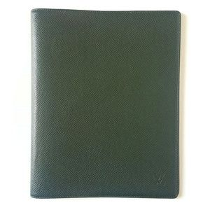 LOUIS VUITTON GREEN TAIGA AGENDA BUREAU COVER