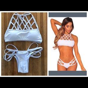 Vogue Vice Other - NWT white strappy bikini