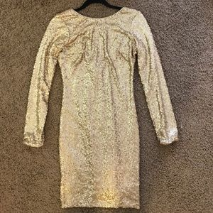 Dress the Population Dresses & Skirts - Dress The Population Gold Sequence Dress