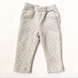 GAP Other - BABY GAP [baby girl] Gray warm heart Sweatpants
