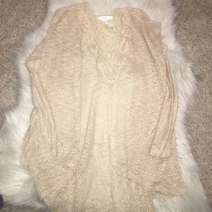 Other - Beige cardigan size large