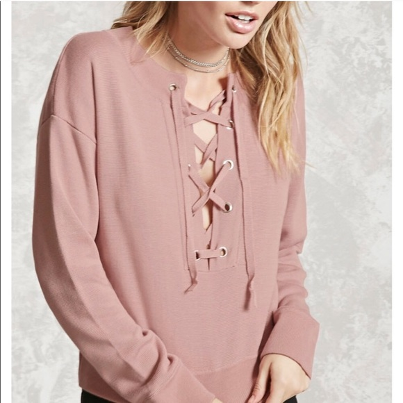 Forever 21 Tops - Pink Lace Top