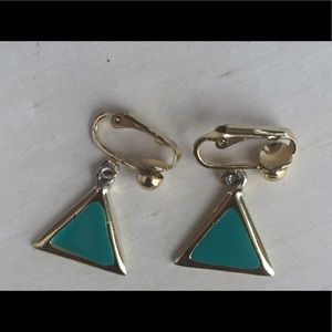 Jewelry - Vintage Triangular-shaped French Clip Earrings