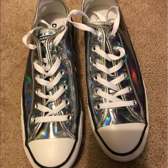 3e6e7649790d Converse Shoes - Converse holographic chucks size 9