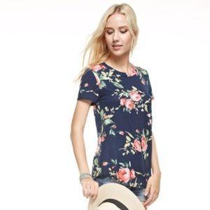 Kyoot Klothing Tops - Navy Floral Top