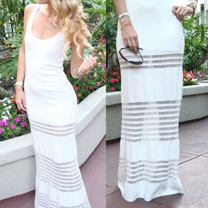 Torn by Ronny Kobo Dresses & Skirts - Torn by Ronny kobo white knit maxi dress