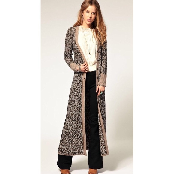 Free People Sweaters - SALE✨Free People Leopard Maxi Duster Cardigan a70ea7245