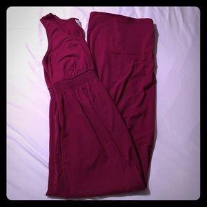 Motherhood maternity dress size L dark pink
