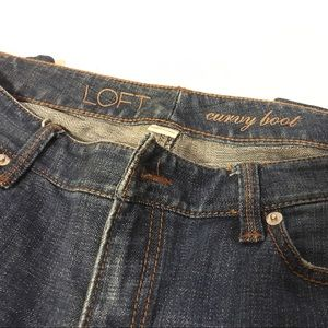 LOFT Denim - Ann Taylor Curvy Fit Denim Jeans Boot...Size 8