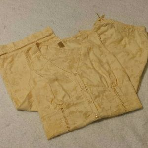 Cato Other - Cato Pajamas. Capris & Sleeveless Top. Size Med.