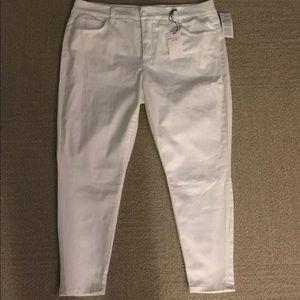 Melissa McCarthy Denim - Melissa McCarthy White Pencil Jeans