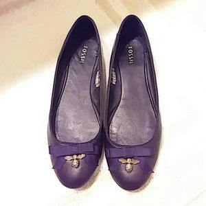 Fossil Shoes - Fossil Black Bow Flats