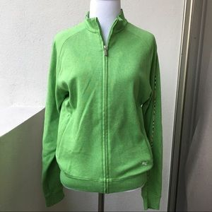 Burberry Sweaters - Burberry Women's Golf Green Zip Jacket size M