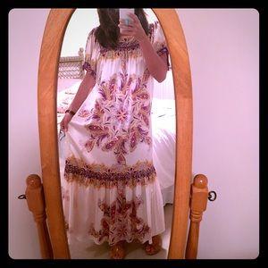 ECI Dresses & Skirts - NWT Silk Mexican Inspired Maxi Dress