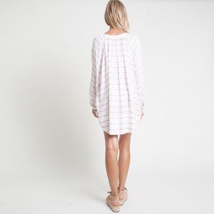 Dresses - White Striped Dress