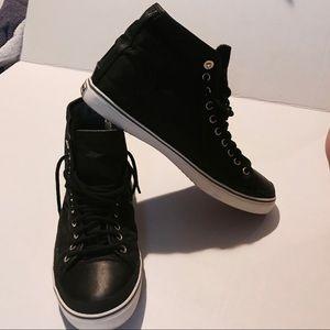 Tretorn Shoes - Tretorn Skymra Black Mid-High Top Sz 8 Athleta