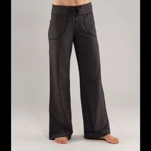 lululemon athletica Pants - Lululemon Still Pants Heathered Black Wide Leg