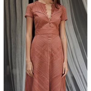 TJD Dresses - The Jetset Diaries 'Getaway Midi Dress' in Coral