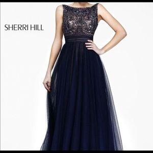 Sherri Hill Dresses & Skirts - Sherri Hill Dark Blue Prom Dress