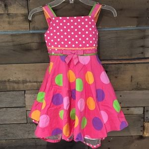 Rare Editions Other - Rare Editions pink polka dot dress. Size 4t