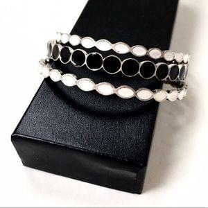 Premier Designs Jewelry - Premier Designs Enameled Bangle Bracelet Trio❤️