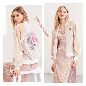 Urban Outfitters Velvet Mermaid Bomber Jacket