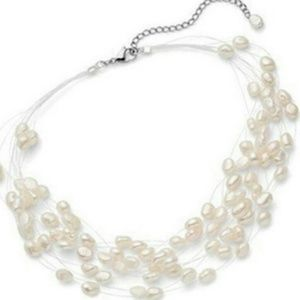 Jewelry - Gorgeous Floating Pearl Necklace