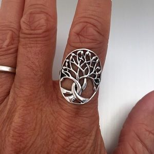Jewelry - Sterling Silver Large Tree of Life Ring