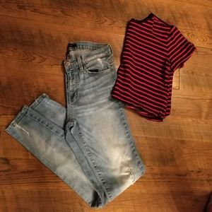 Forever 21 Tops - NWOT Striped Crop top