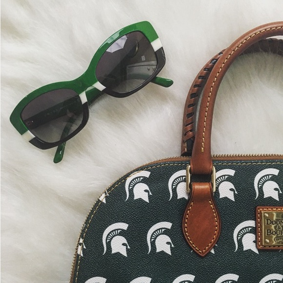 129482b68231 Prada Accessories | Green White And Black Striped Sunglasses | Poshmark