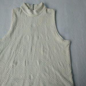 Anthro Postmark Off-White Mockneck Knit Tank Top