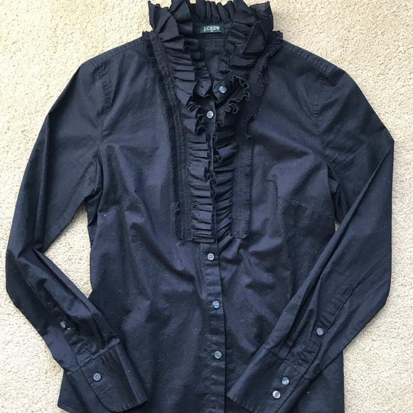 J Crew Hp J Crew Black Cotton Button Down Shirt From