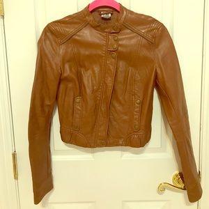 ZARA BROWN Faux Leather Jacket