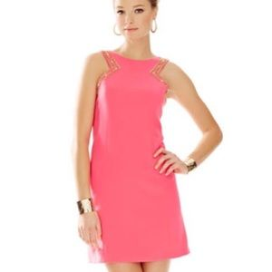 Lilly Pulitzer Dresses & Skirts - Lilly Pulitzer bright pink Largo beaded dress