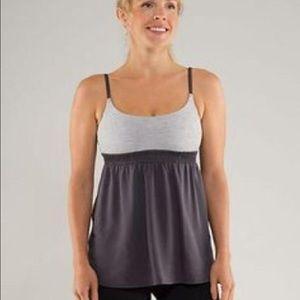 lululemon athletica Tops - Lululemon coal wee stripe bliss tank gray