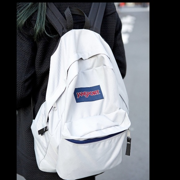 16603846368 White jansport backpack