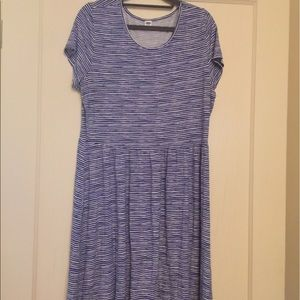 Old Navy blue white stripe swing dress