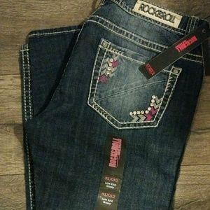 Rock & Roll Cowgirl Denim - Rock & Roll Cowgirl Low Rise Skinny Jeans